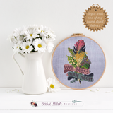 Well Bless Your Heart Cross Stitch Kit - Sassi Stitch Boutique