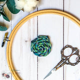 Turquoise, Green and Grey Hand Dyed 6 Stranded Embroidery Floss - Sassi Stitch Boutique