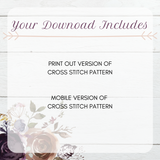 Mini Montserrat Cross Stitch Font - Sassi Stitch Boutique