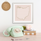 Ohio Blackwork Cross Stitch Kit - Sassi Stitch Boutique