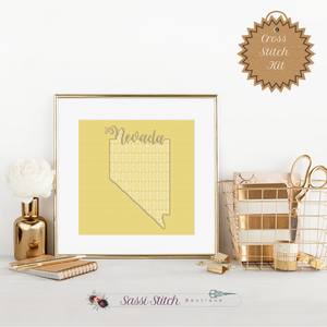 Nevada Blackwork Cross Stitch Kit - Sassi Stitch Boutique