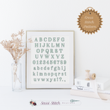 Serif Cross Stitch Font - Sassi Stitch Boutique