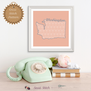 Washington Blackwork Cross Stitch Pattern - Sassi Stitch Boutique