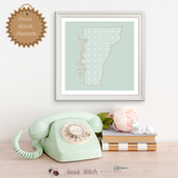 Vermont Blackwork Cross Stitch Pattern - Sassi Stitch Boutique