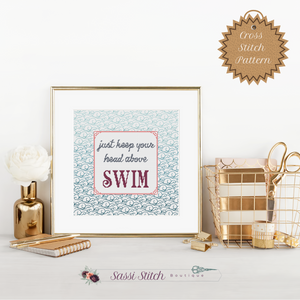 Swim Cross Stitch Pattern - Sassi Stitch Boutique