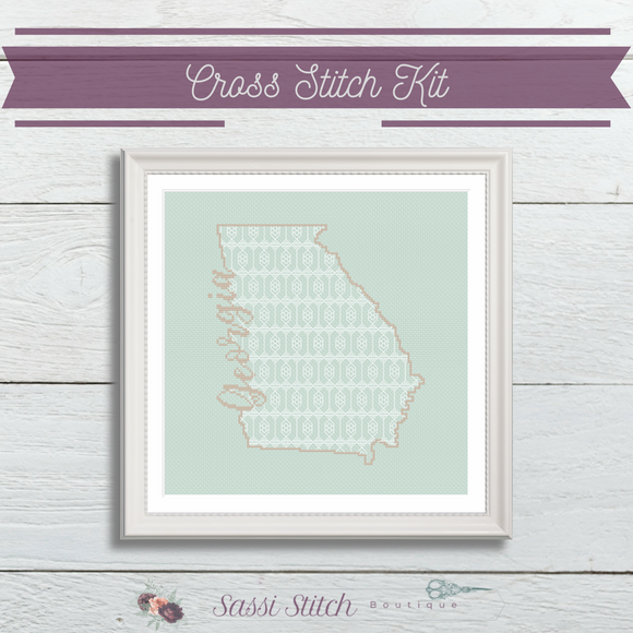 Georgia Blackwork Cross Stitch Kit - Sassi Stitch Boutique