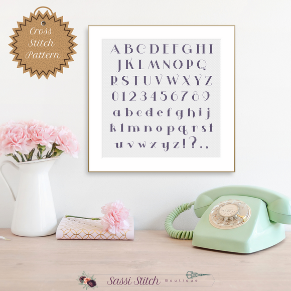 Cross Stitch Font - Sassi Stitch Boutique