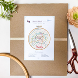 Paris Metro Map Cross Stitch Kit