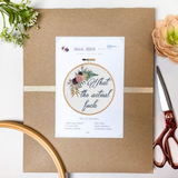 What the Actual Fuck Cross Stitch Kit - Sassi Stitch Boutique