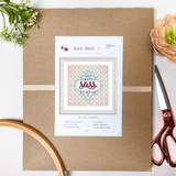 I Was Raised to Sass at Defcon 5 Cross Stitch Kit - Sassi Stitch Boutique