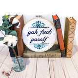 Gah Fuck Yaself Cross Stitch Pattern - Sassi Stitch Boutique