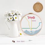Toronto Transit Map Cross Stitch Kit