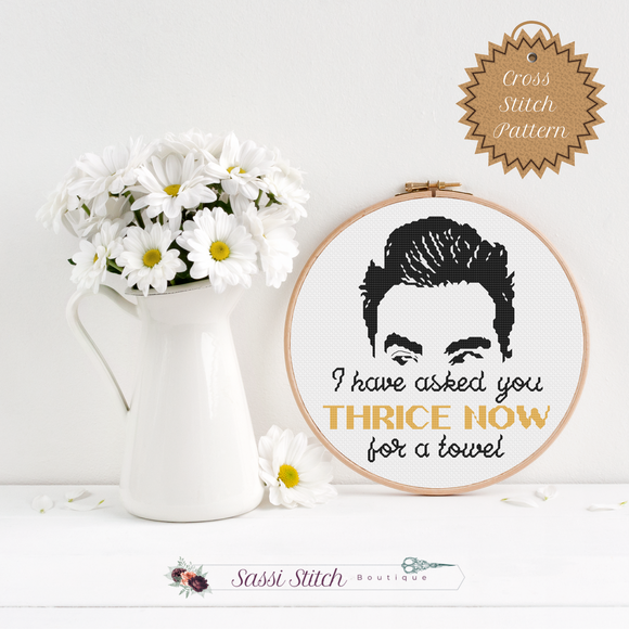 Thrice Now - Schitt's Creek Cross Stitch Pattern