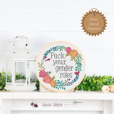 Fuck Your Gender Roles Cross Stitch Pattern
