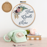 Custom Floral Cross Stitch Pattern - Sassi Stitch Boutique