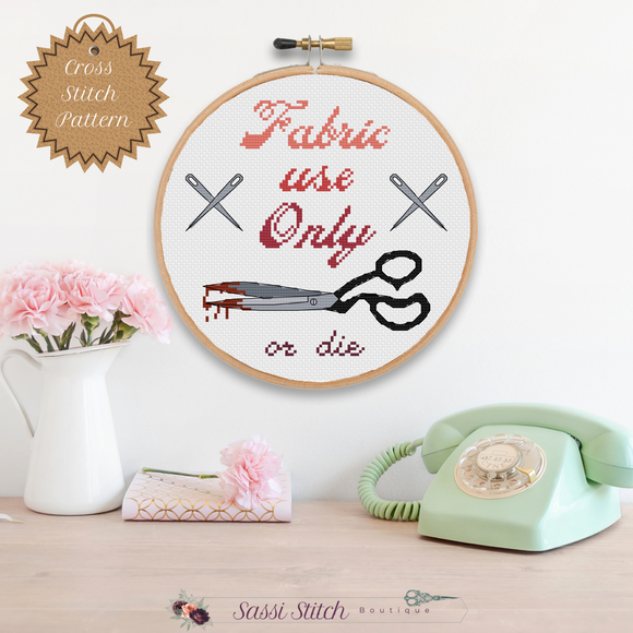 Fabric Use Only Cross Stitch Pattern - Sassi Stitch Boutique