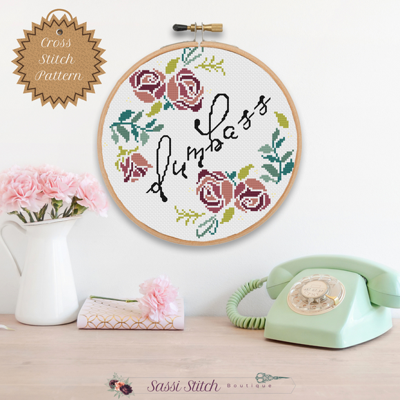 Dumbass Cross Stitch Pattern - Sassi Stitch Boutique