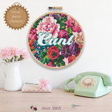 Floral Cunt Cross Stitch Pattern - Sassi Stitch Boutique