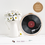 Record Player Cross Stitch Pattern - Sassi Stitch Boutique