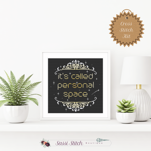 Personal Space Cross Stitch Kit