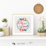 Please Leave Cross Stitch Kit