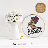 Resist Cross Stitch Kit