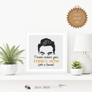 Thrice Now - Schitt's Creek Cross Stitch Kit