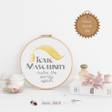 Toxic Masculinity Cross Stitch Kit