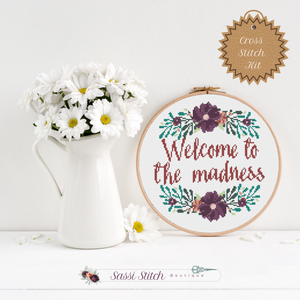 Welcome to the Madness Cross Stitch Kit