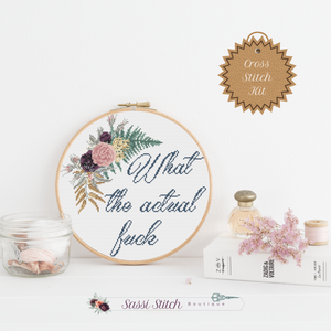 What the Actual Fuck Cross Stitch Kit