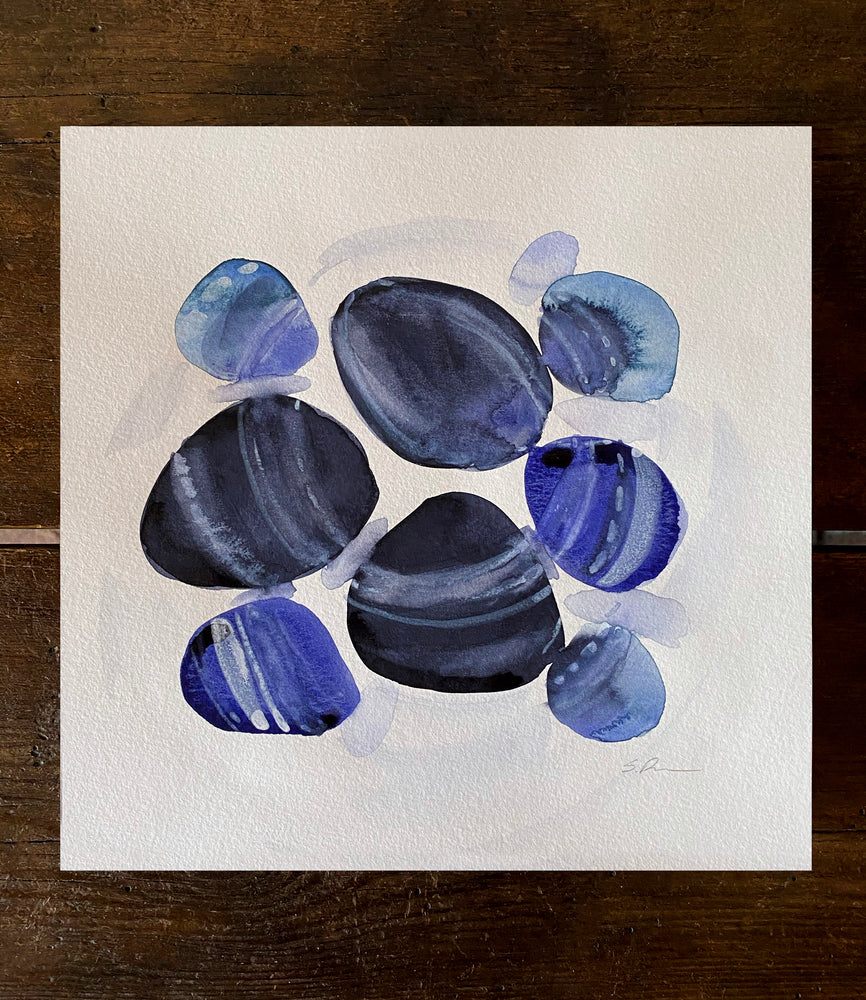 August Indigo Stones Original Art