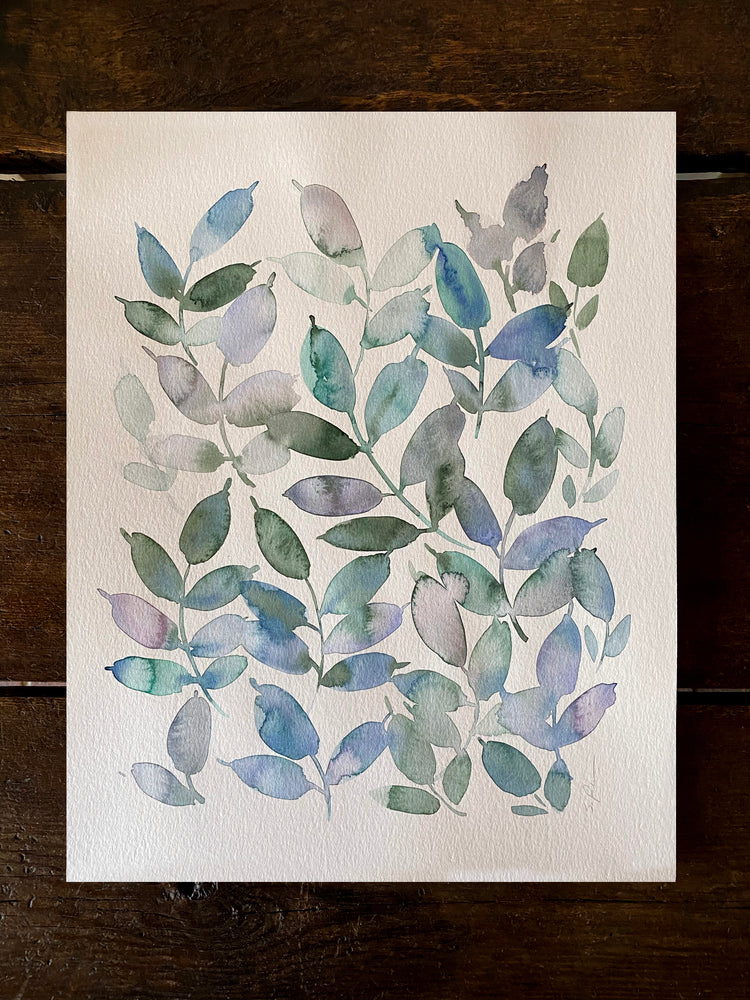 August Leaves Original Art