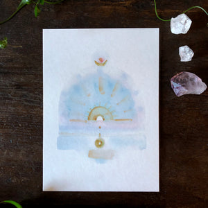 Quiet Light Oracle Card -  Sacred Dream Space