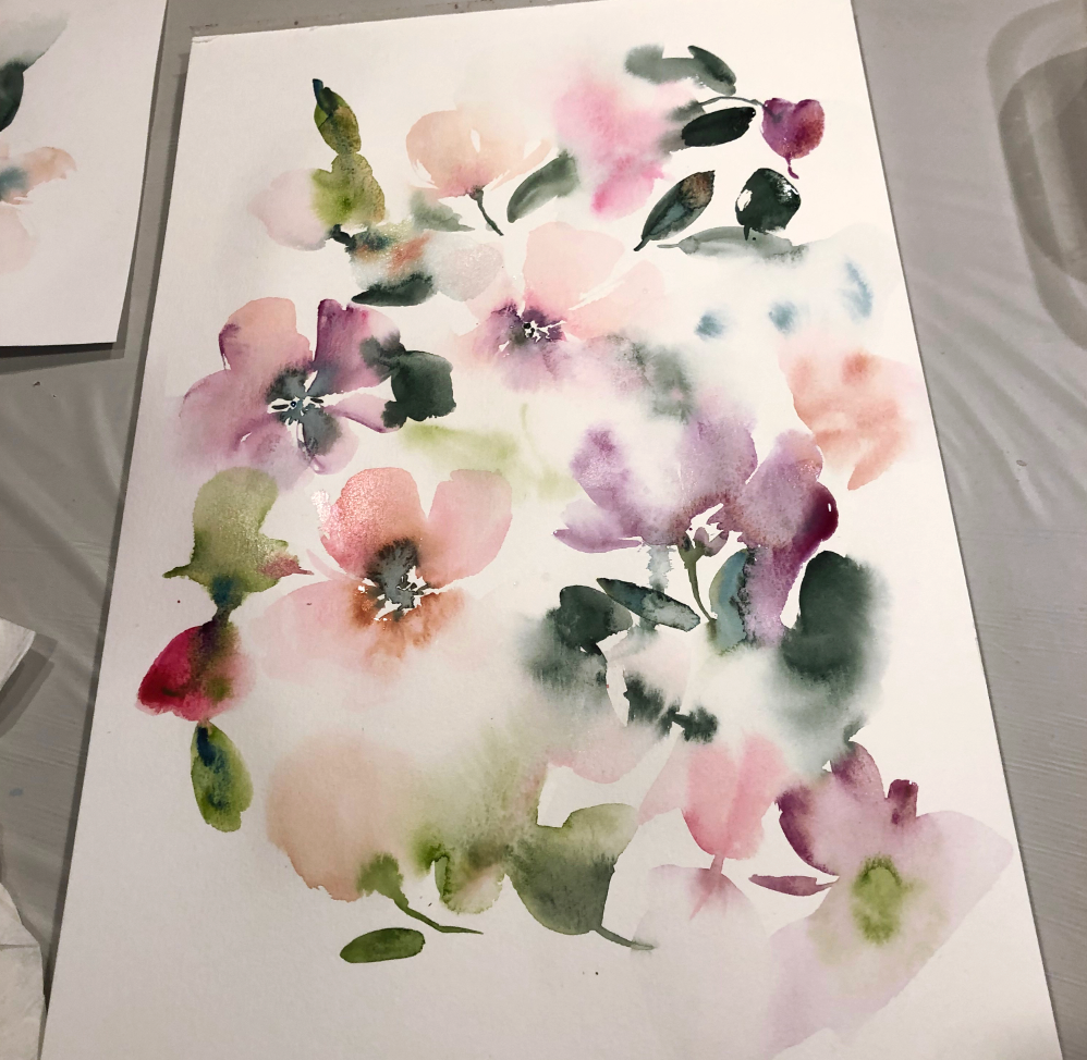 Intuitive Watercolor Floral Workshop