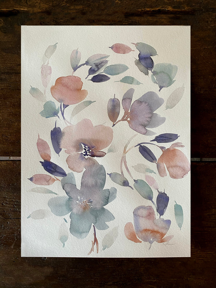 September Floral Original Art