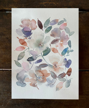 September Floral Allover Original Art