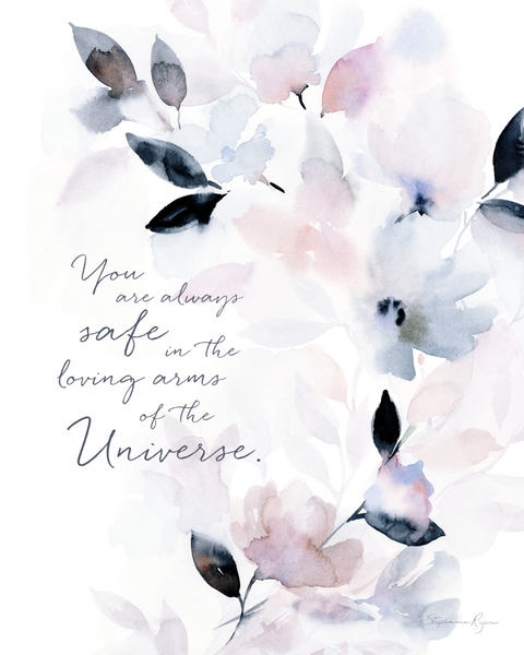 You are Always Safe - Soul Messages Print