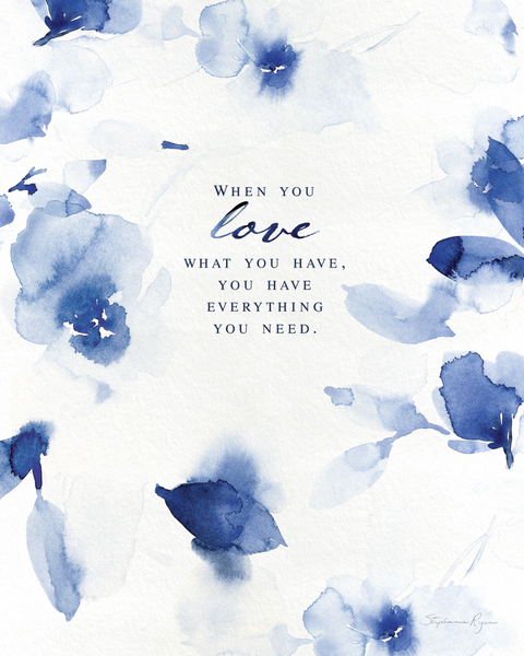 When you Love - Soul Messages Print