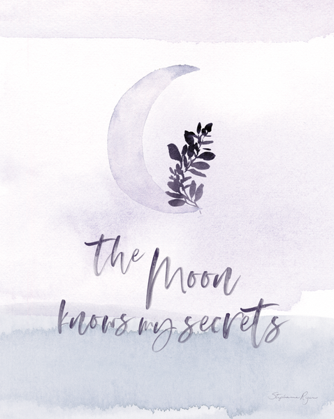 The Moon Knows my Secrets - Soul Messages Print