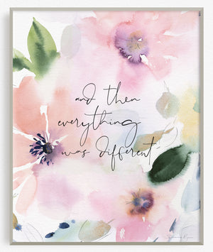 And then everything was different - Soul Messages Print