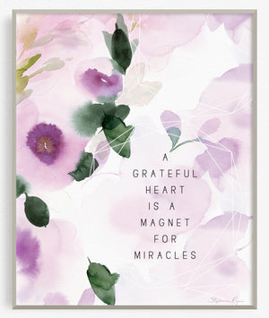 Grateful Heart - Soul Messages Print