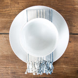 Cream & Pale Blue Striped Napkin