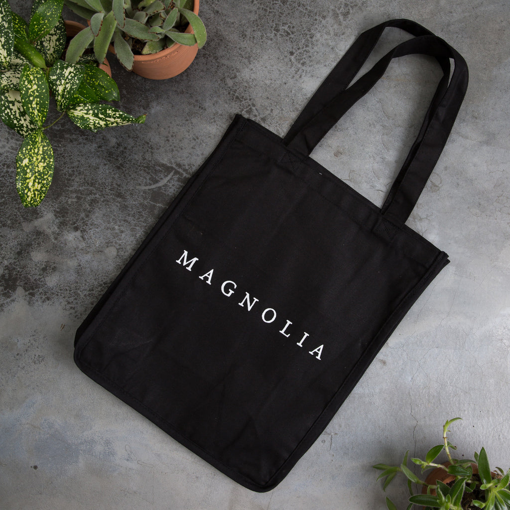 Black Silos Mural Canvas Tote