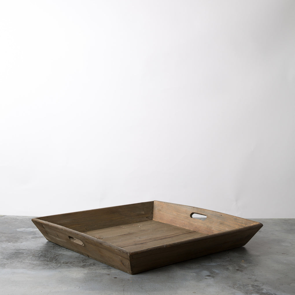 square wood decorative serving tray