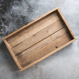 Wooden Footed Tray