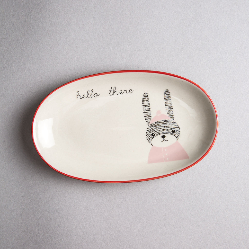 "Oval ""Hello There"" Plate"