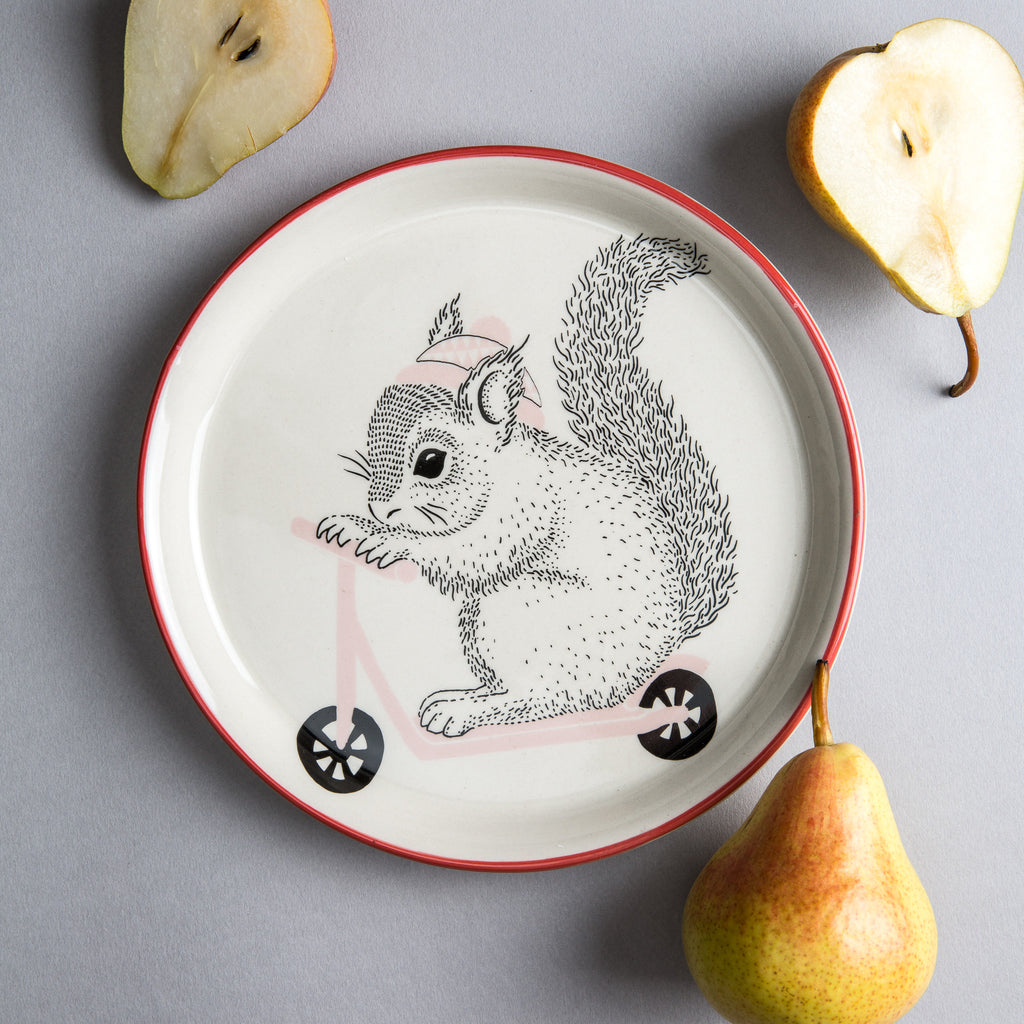 Squirrel Ceramic Plate