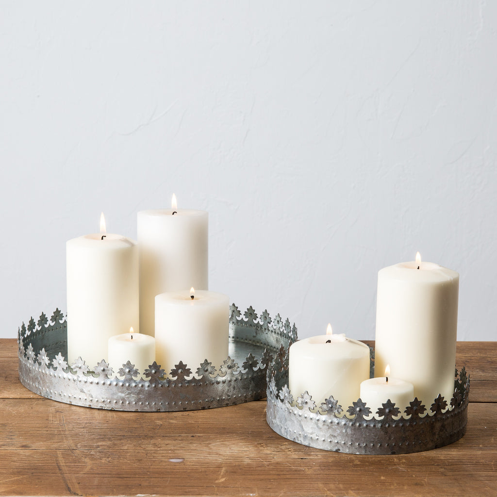 decorative metal crown tray