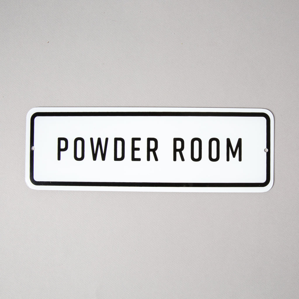 """Powder Room"" Sign"