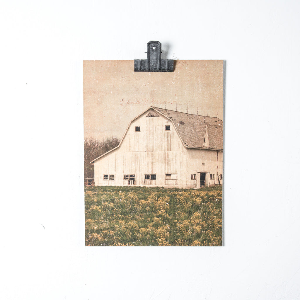 Vintage-inspired Barn Painting